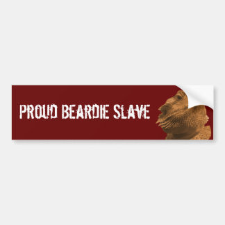 Beardie Slave Bumper Sticker