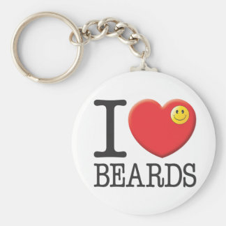 Beards Key Ring