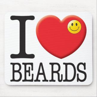 Beards Love Mousemats