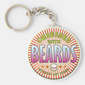 Beards Obsessed R Basic Round Button Key Ring