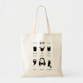 Beards of the Bible tote bag