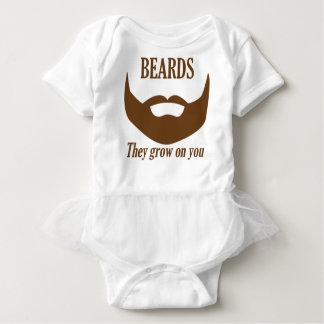 BEARDS THEY GROWN ON YOU BABY BODYSUIT