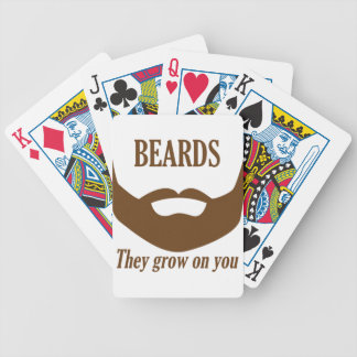 BEARDS THEY GROWN ON YOU BICYCLE PLAYING CARDS