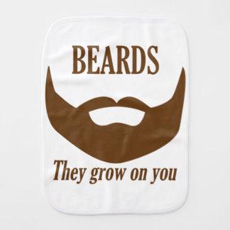 BEARDS THEY GROWN ON YOU BURP CLOTH