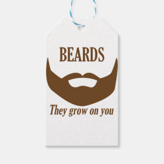 BEARDS THEY GROWN ON YOU GIFT TAGS