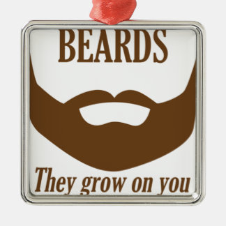 BEARDS THEY GROWN ON YOU Silver-Colored SQUARE DECORATION