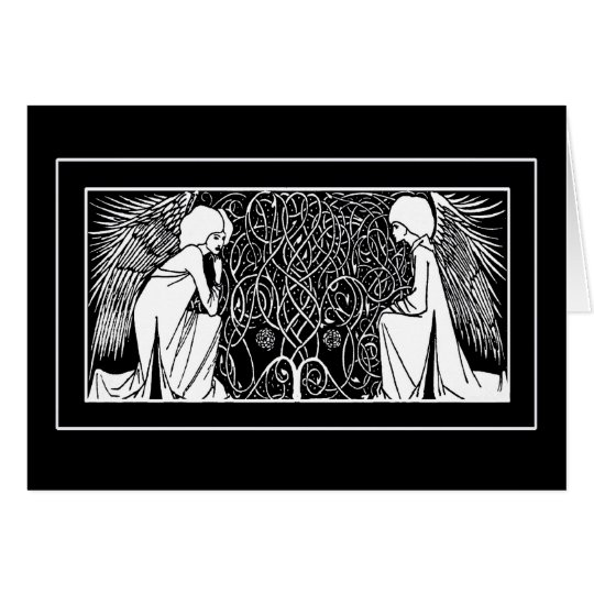 Beardsley Art Nouveau Angels Note Cards