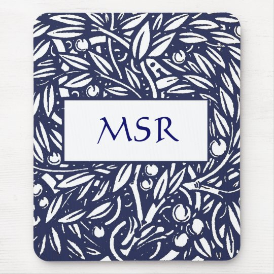 Beardsley Art Nouveau Monogram Mousepad