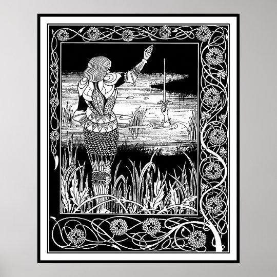 Beardsley - Excalibur - King Arthur Art Poster