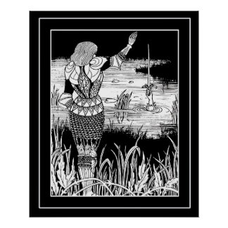 Beardsley Excalibur& Knight Art Poster