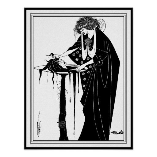 Beardsley - Head on a Platter: The Dancer's Reward Poster