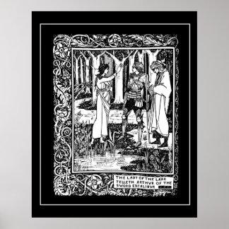 Beardsley King Arthur Excalibur Poster
