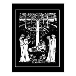 Beardsley Lancelot Post Card