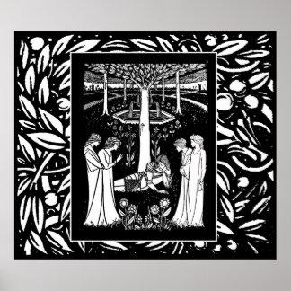 Beardsley Lancelot & Queens Poster