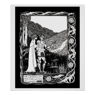 Beardsley Lancelot & the Witch Poster