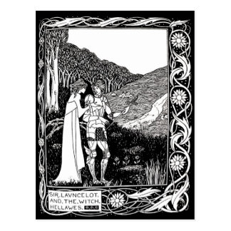 Beardsley Lancelot & Witch Post Card