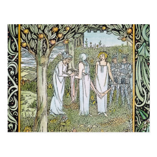 Beardsley: Morte D'Arthur Postcard