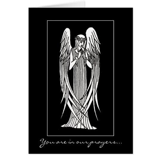 Beardsley Nouveau Angel Sympathy Card