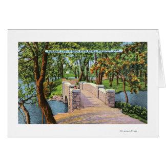 Beardsley Park View of the Stone Bridge Card