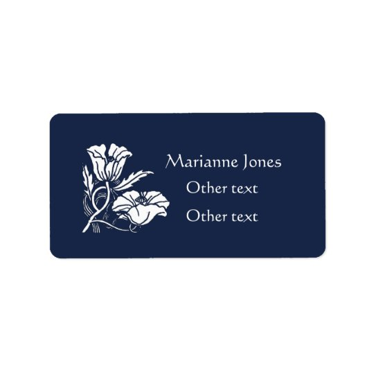 Beardsley Poppies Label Sticker Address Label