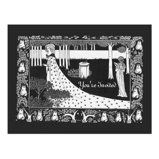 Beardsley Wedding Bridal Shower Invitation Postcard