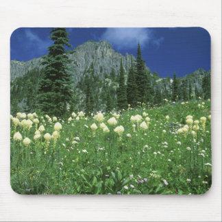 Beargrass at Eunice Lake, Mt. Rainier NP, WA, Mouse Mat