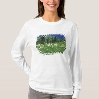 Beargrass at Eunice Lake, Mt. Rainier NP, WA, T-Shirt