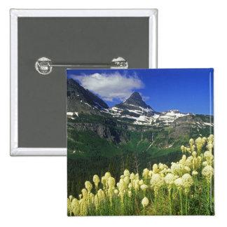 Beargrass at Logan Pass in Glacier National Park 15 Cm Square Badge