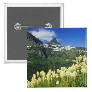 Beargrass near Logan Pass in Gacier National 15 Cm Square Badge
