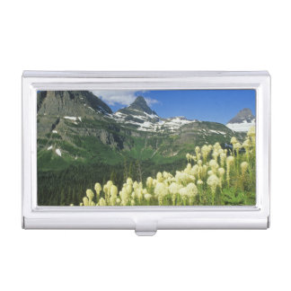 Beargrass near Logan Pass in Gacier National Business Card Holder