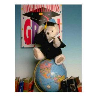 Bearly a graduate postcard