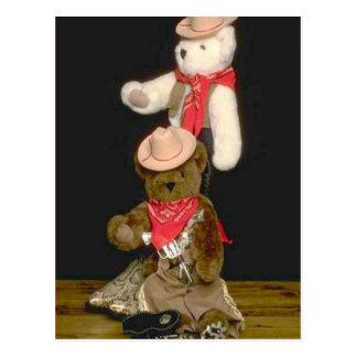 Bearly cowboys postcard