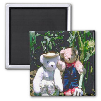Bearly Gardeners Square Magnet