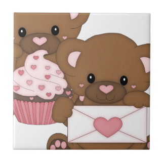 Bearly Love Small Square Tile