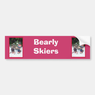 Bearly Skiers Bumper Stickers