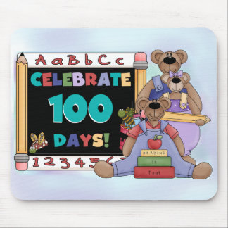 Bears 100 Days of School Mouse Pad