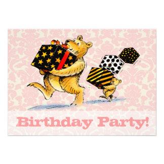 Bears 1st Birthday Party Custom Invitation