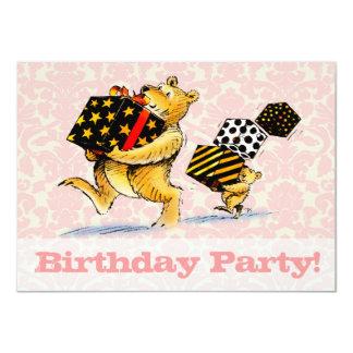 Bears 1st Birthday Party 4.5x6.25 Paper Invitation Card
