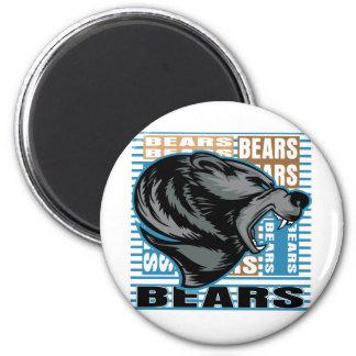 Bears 6 Cm Round Magnet