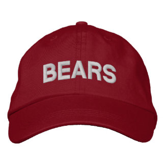 Bears Adjustable Cap Embroidered Hats
