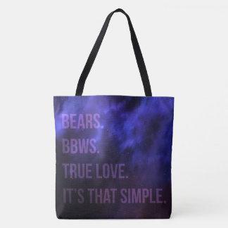 Bears. BBWs. True Love. It's That Simple. Tote Bag