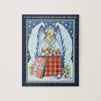 """Bear's Christmas Joy 8"""" x 10"""" Puzzle with Gift Box"""