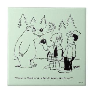 Bears Dinner Tile