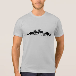 Bears, Elk, Moose, Bison & Wolf T-Shirt