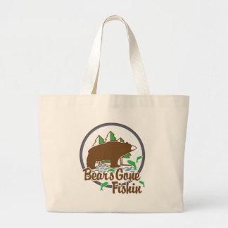 Bear's Gone Fish'n Canvas Bags