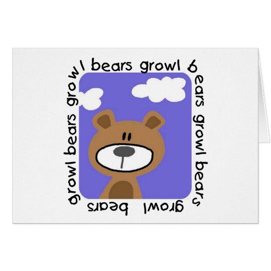 Bears Growl Tshirts and Gifts Card