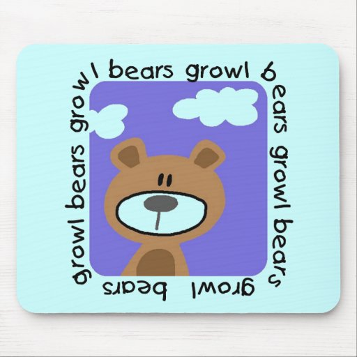 Bears Growl Tshirts and Gifts Mouse Pads
