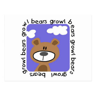 Bears Growl Tshirts and Gifts Postcards