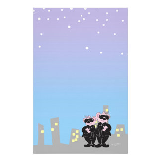 "BEARS IN BLACK  5.5"" x 8.5"" Stationery Basic"