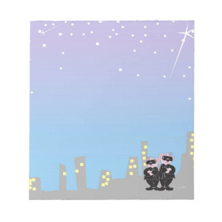"""BEARS IN BLACK ALIEN  5.5"""" x 6"""" Notepad - 40 pages"""